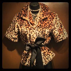 Jackets & Blazers - Pinup style leopard classic jacket vintage